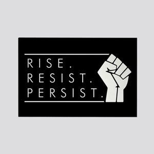 Rise. Resist. Persist. Rectangle Magnet